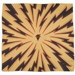 Zlatý hedvábný šátek s výraznými černými blesky, A Piece of Chic