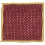 Tmavě červený hedvábný šátek se zlatými liliemi, A Piece of Chic