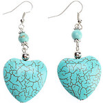 LightInTheBox Jadeite Peach Heart Shape Turquoise Earrings