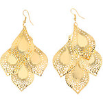 LightInTheBox Drop Shape Hollow Out Gold Plated Earrings