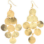 LightInTheBox Round Shape Disc Gold Plated Earrings