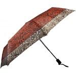 Doppler Dámský skládací plně automatický deštník Romantic Satin - červený 744765R03