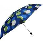 Doppler Dámský skládací mechanický deštník Party Dots - modrý 722365D-3