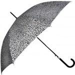 Doppler Dámský holový vystřelovací deštník Glitter Leo - stříbrný 740865LO-1