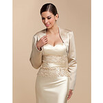 LightInTheBox Long Sleeve Satin Evening/Casual Wrap/Jacket With Beading (More Colors)