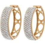 Zuzu Zlaté kruhy s krystaly ZU57