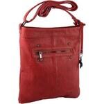 Le-Sands Elegantní červená crossbody kabelka 2745-2