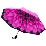 Blooming Brollies Dámský skládací plně automatický deštník Galleria Pink Dahlia GFFDP
