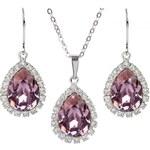 Troli Štrasová souprava šperků Antik Pink
