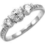 Silvego Stříbrný zásnubní prsten Varsamia se Swarovski Zirconia SHZR338 48 mm