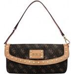 Guess Elegantní kabelka Logo Affair Petite Flap Brown