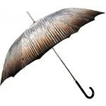 Doppler Dámský holový vystřelovací deštník Rain Art Lang Carbonsteel - hnědý 714765RA-02