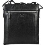 Septwolves Černá kožená crossbody taška 1A1223011-01