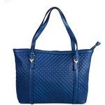 Lecharme Elegantní kožená kabelka HK2173-deep blue