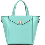 LightInTheBox Ziyouren Fashion Genius Leather OL Tote(Light Blue)