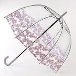 Fulton Dámský průhledný holový deštník Birdcage 2 Floret Border L042-7