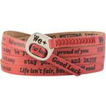 We Positive Červený wrap náramek s nápisy Papaya 141