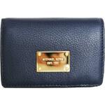 Michael Kors Elegantní kožená peněženka Slim Walltet Leather - tmavě modrá 38S4XTTE2L-1