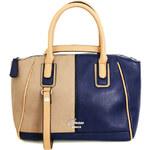 Guess Elegantní kabelka San Jose béžová/modrá