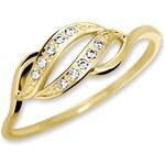 Brilio Zlatý prsten s krystaly 229 001 00648 54 mm