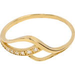 Brilio Zlatý prsten se zirkony 229 001 00626 54 mm