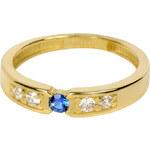 Brilio Zlatý prsten se zirkony 229 001 00481 54 mm