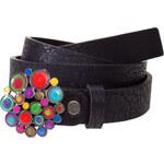 Desigual Dámský opasek Mini Belt Carry Bollas Negro 51R54A3 2000 85 cm