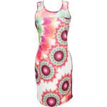Desigual Dámské šaty Adriana Rep Virtual Pink 55V21P5 3145 S