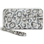 Guess Elegantní peneženka Delaney Snow Leopard-Print Zip-Around