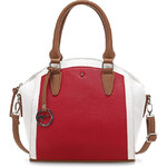 Tamaris Elegantní business kabelka Sharon Handbag Red comb 1570151-597