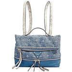 Guess Stylový batoh a kabelka v jednom Dylan Light Denim Convertible Backpack