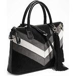 Guess Elegantní business kabelka Nakieta Dizzy Satchel černá