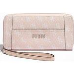 Guess Elegantní peněženka Logo Affair Zip Around růžová