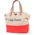 Candy Flowers Originální krémová kabelka 4173-cream