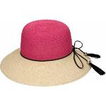Invuu London Dámský slaměný klobouk Fuchsia Natural 15H0108-1