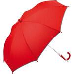 Fare Dětský holový deštník s reflexním lemem Kids Red 6902