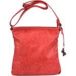 Le-Sands Elegantní červená crossbody kabelka 2919-3