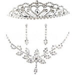 LightInTheBox Pure Alloy Silver Plated With Rhinestone Wedding Bridal Jewelry Set(Including Necklace,Tiara and Earrings)