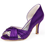 LightInTheBox Graceful Satin Stiletto Heel Open Toe Pumps for Wedding/Special Occasion