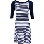 Modro-bílé pruhované šaty Fever London Brighton