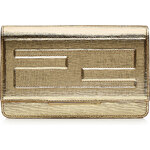 Fendi Metallic Leather Clutch