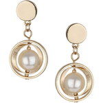 Topshop Circle Pearl Drop Earrings