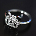 LightInTheBox Korean Jewelry Shiny Red Panda Full Diamond Ring