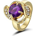 LightInTheBox Crystal In 14K Gold Plating Cocktail Ring (More Colors)