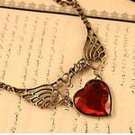 LightInTheBox Women's Vintage Heart Wing Necklace