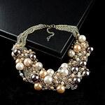 LightInTheBox Elegant Imitation Pearl Bib Necklace