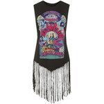 Topshop Led Zeppelin Fringe Tank Top