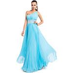 LightInTheBox Sheath/Column One Shoulder Floor-length Chiffon Evening Dress With Pleats