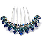 LightInTheBox AlloyRhinestone Wedding Hair Combs(Blue)