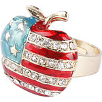 LightInTheBox The Stars and The Stripes Apple Shape Gold Plate Ring